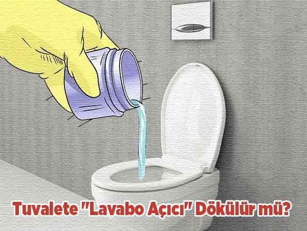 Lavabo Açıcı Tuvalete Dökülür mü ?